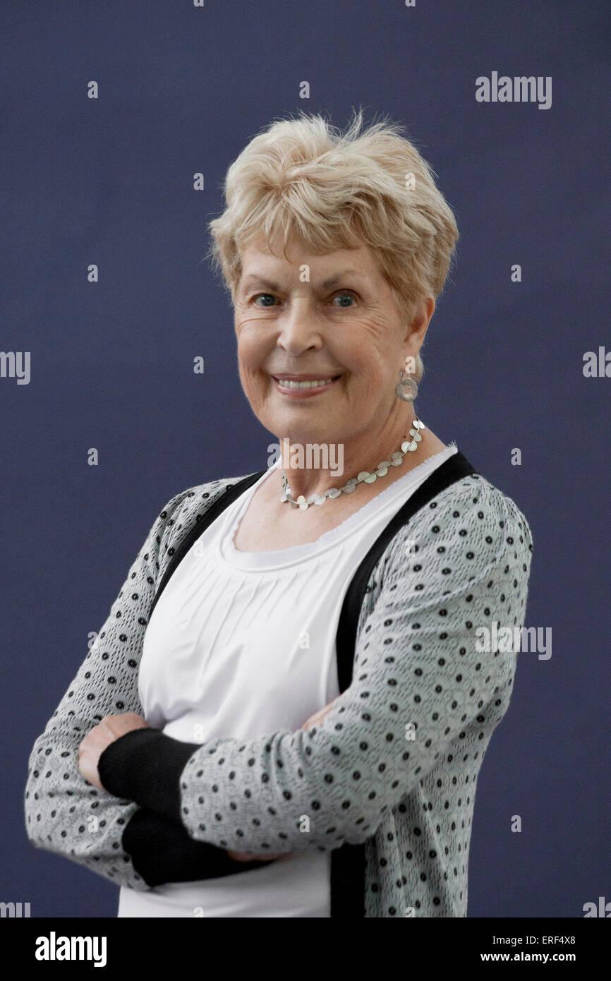 Ruth Rendell, Baroness Rendell of Babergh at Edinburgh International Book Festival, 2012. Writes under the pseudonym - Stock Image