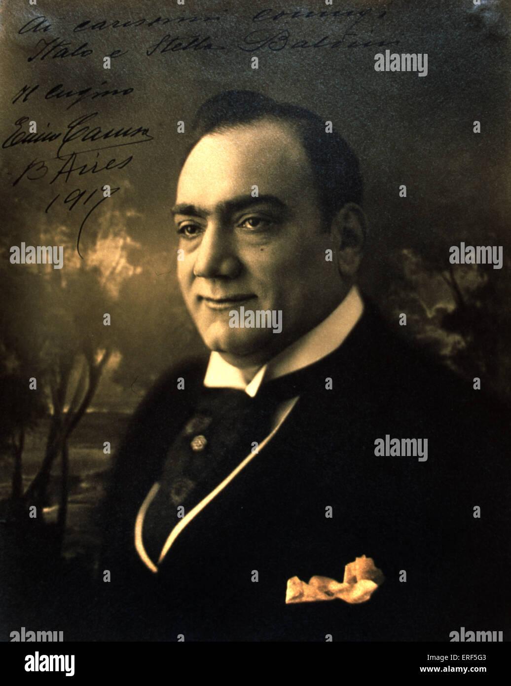 CARUSO, Enrico - signed photo, 1917 Italian Tenor, 1873-1921 Stock Photo