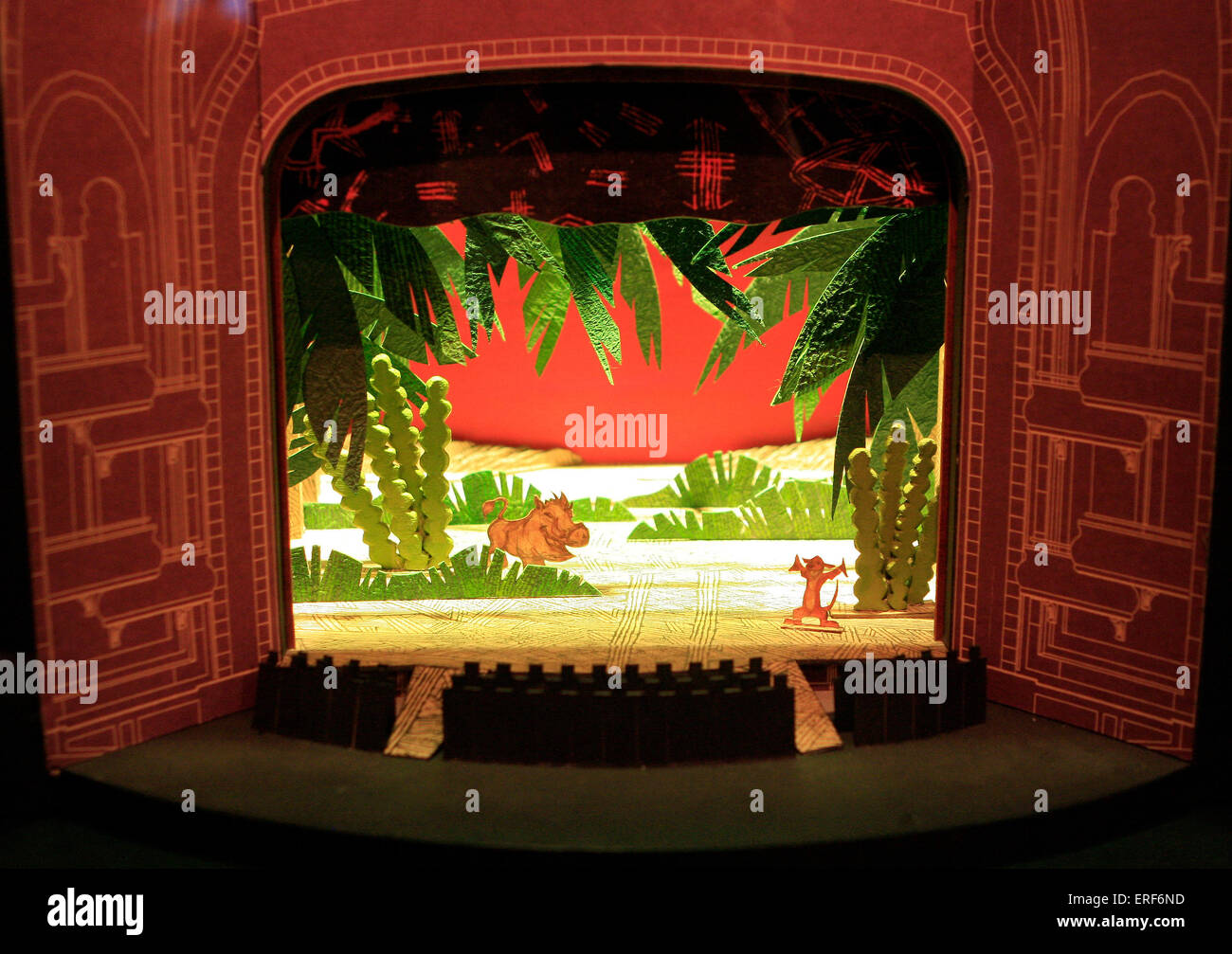 Stage Set Design Model On Display At The Inside The Lion King The Stock Photo Alamy
