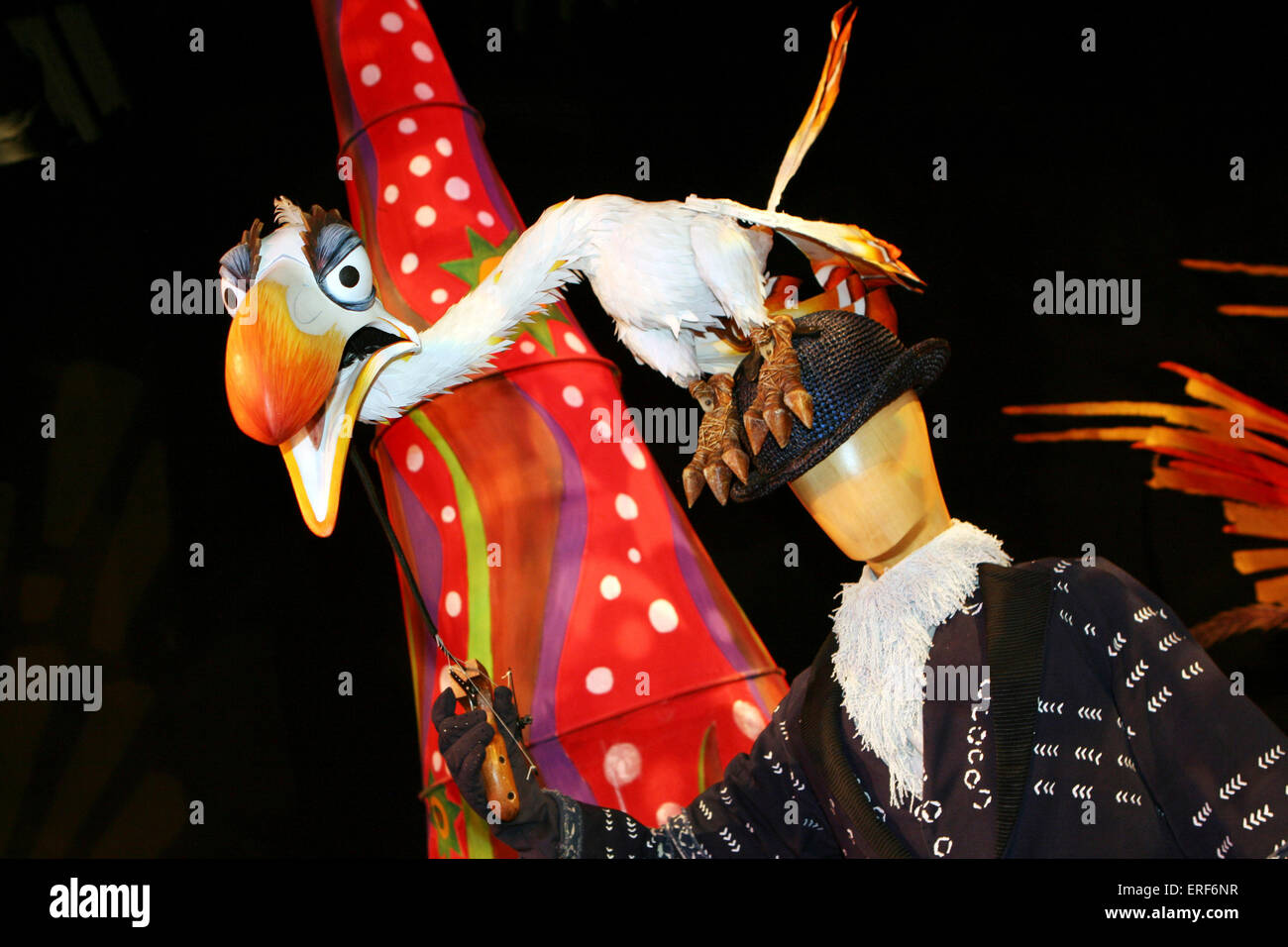 Zazu costume and puppet on display at the u0027Inside The Lion Kingu0027 the first immersive pop-up exhibit ever created for a & Zazu costume and puppet on display at the u0027Inside The Lion King ...