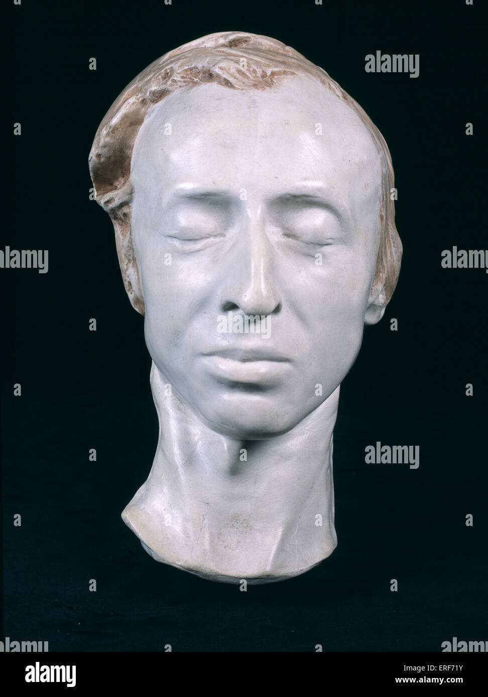 Frédéric Chopin 's death mask, 1849. Polish composer. Mask by A. Clésinger.  Frederic Chopin - Stock Image