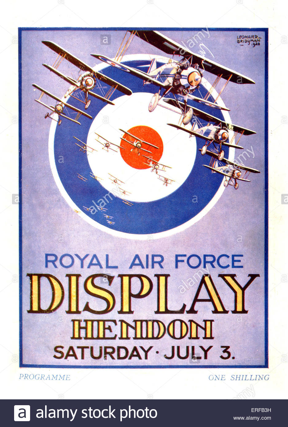 Royal Air Force (RAF) display programme front cover. Display Hendon Saturday July 3, 1926. - Stock Image