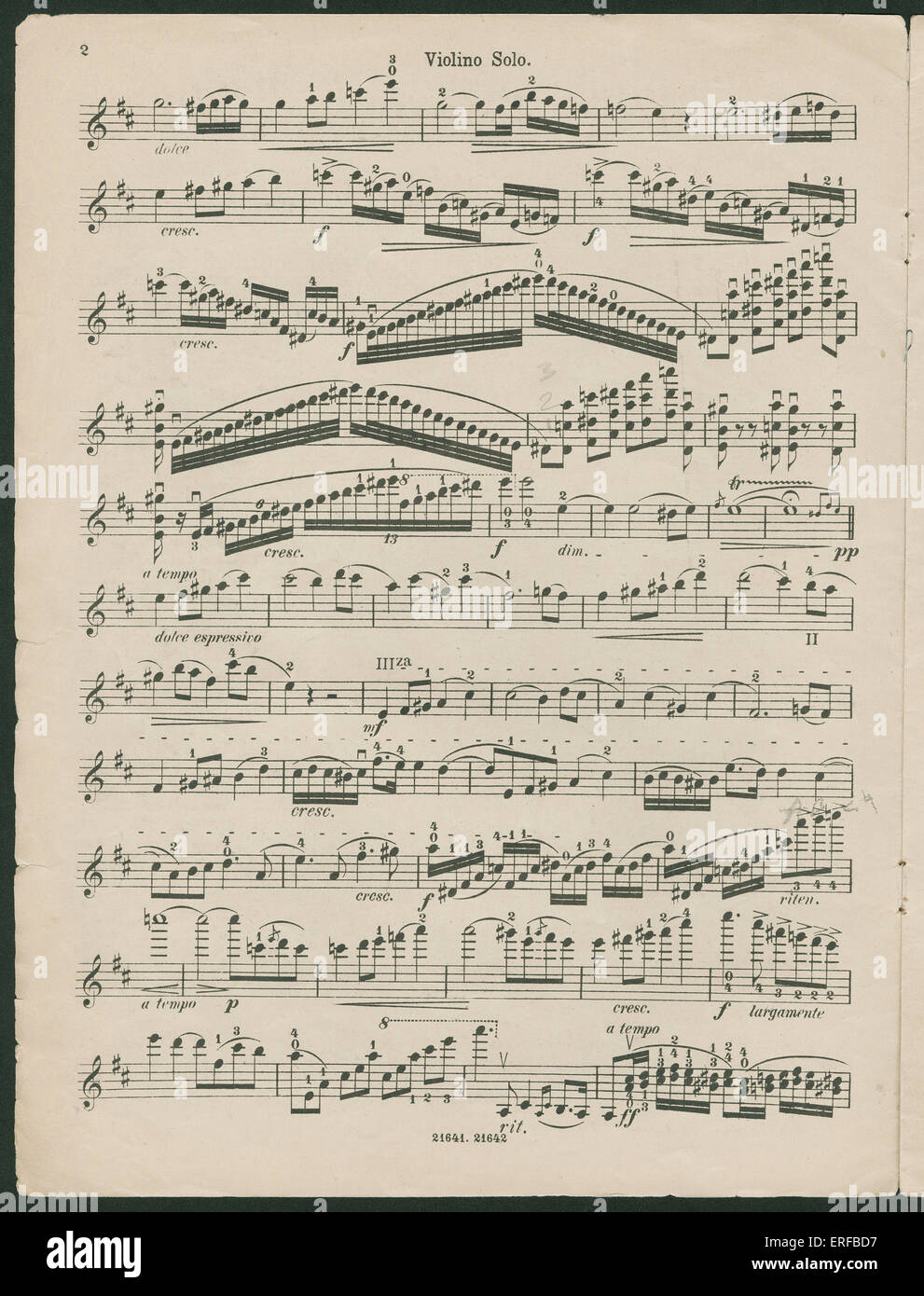 Paganini Violin Concerto No 1, op 6, violin solo  Composed