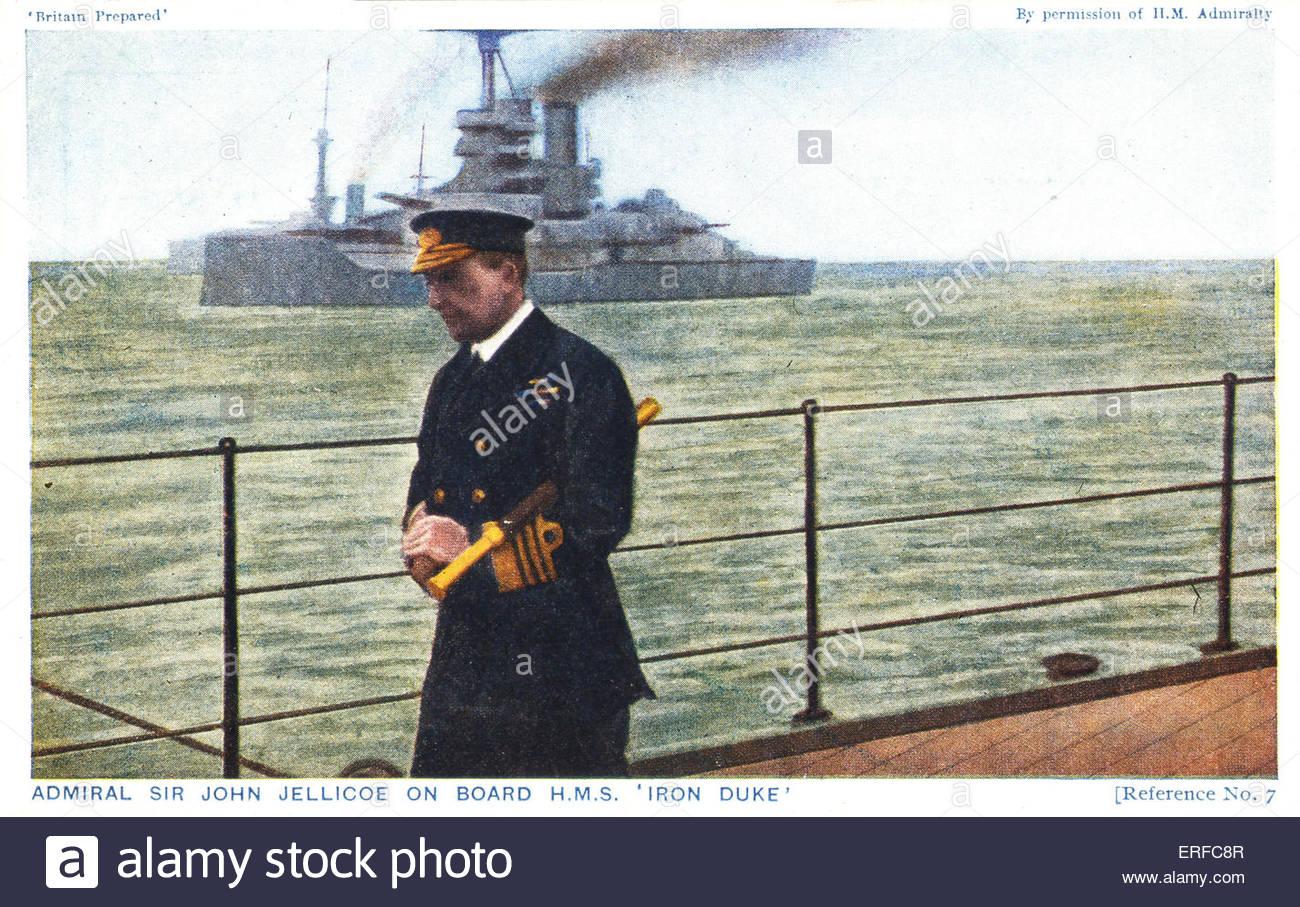 'Britain Prepared: Admiral Sir John Jellicoe on board HMS 'Iron Duke',' early twentieth century - Stock Image