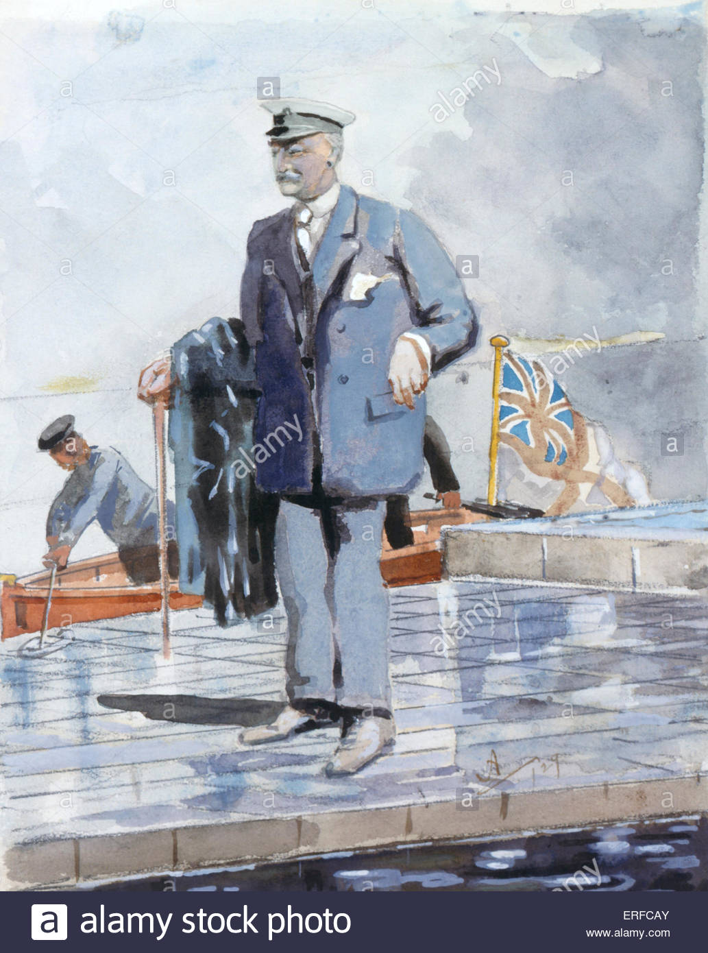 Portrait of Sir William Portal ('Willie') by Arnold Lord Albemarle. Royal Yacht Squadron. - Stock Image