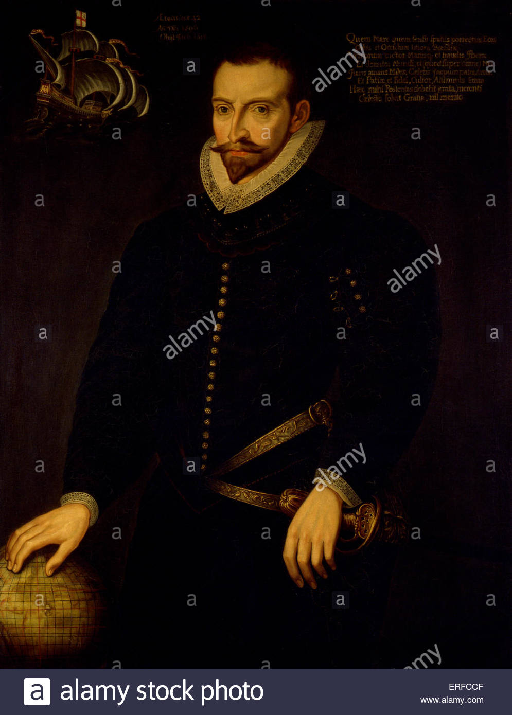 Sir James Lancaster, Elizabethan trader and privateer, 1569. Courtesy Skinners Hall. JL: c. 1554 died 6 June 1618. - Stock Image