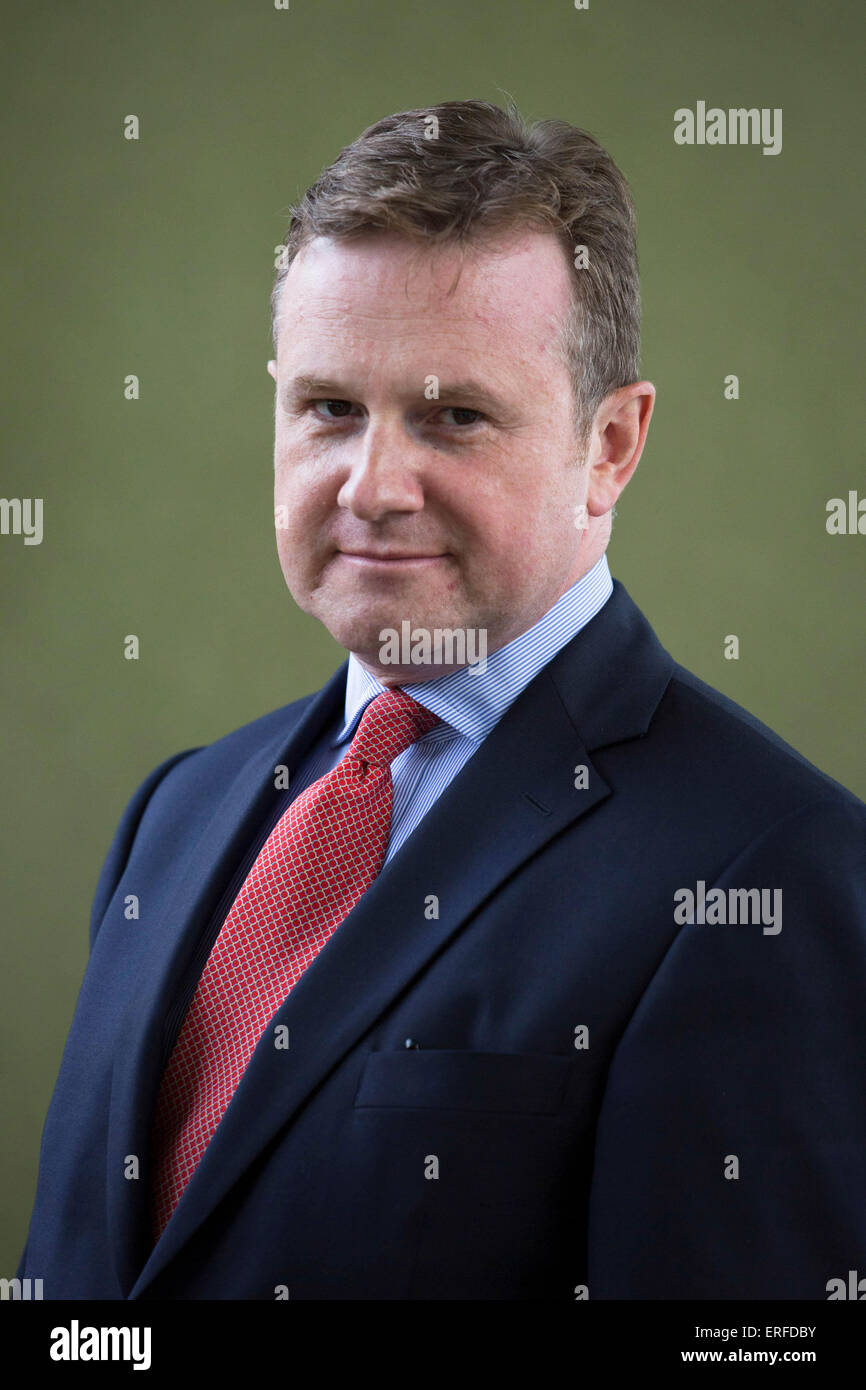 14th August 2014. Iain Martin, former editor of the Scotsman, gave a talk on his book Making It Happen, at Edinburgh - Stock Image