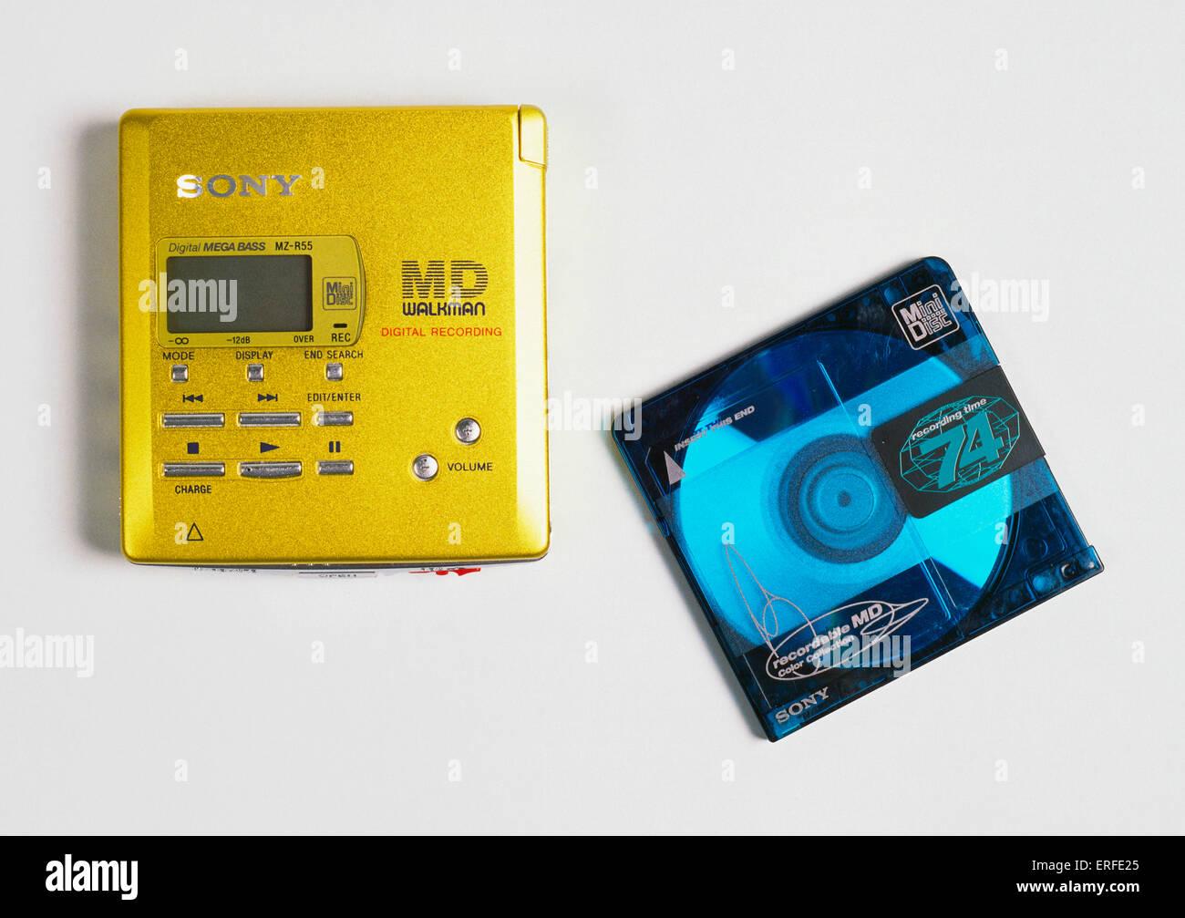 Sony minidisc player with minidisc  Portable music player