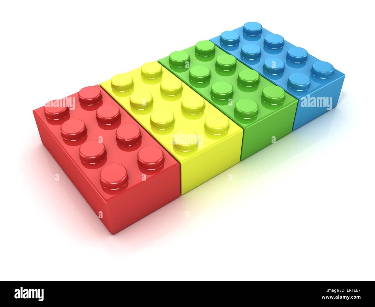 Plastic building blocks  Side view Stock Photo: 83319215 - Alamy