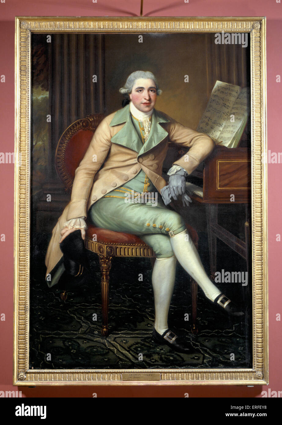 Charles Wesley by John Russell. English organist and harpsichord player, 1757-1834.  Oil on canvas. - Stock Image