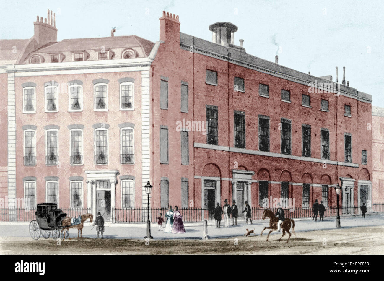 Hanover Square Rooms in London, c.1830s. Haydn's music performed here when he was in London - impresario Salomon - Stock Image