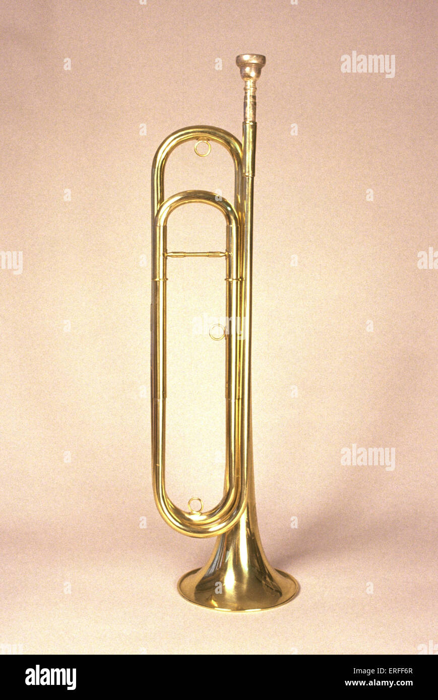 Cavalry trumpet - natural - Stock Image