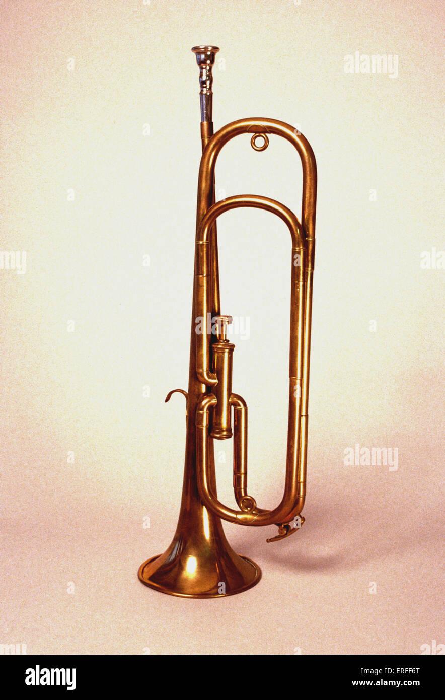 Cavalry trumpet - Stock Image