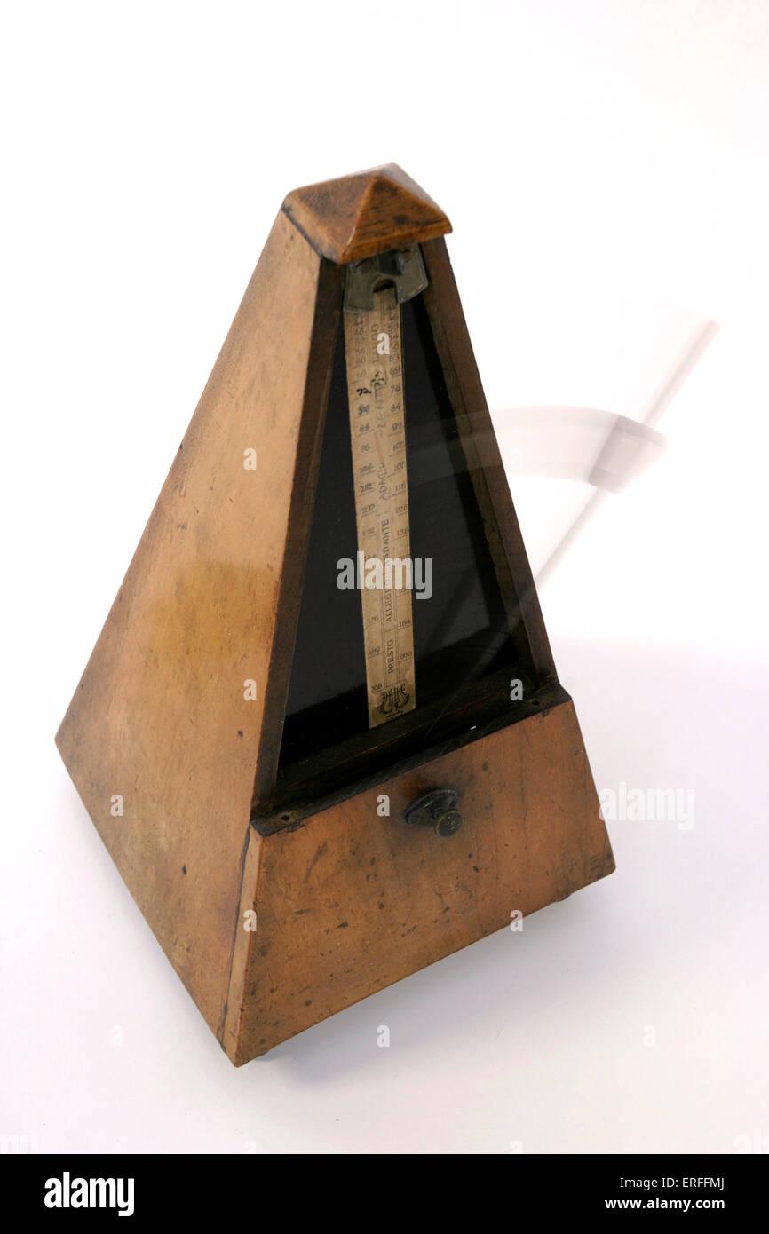 Wooden metronome - Stock Image