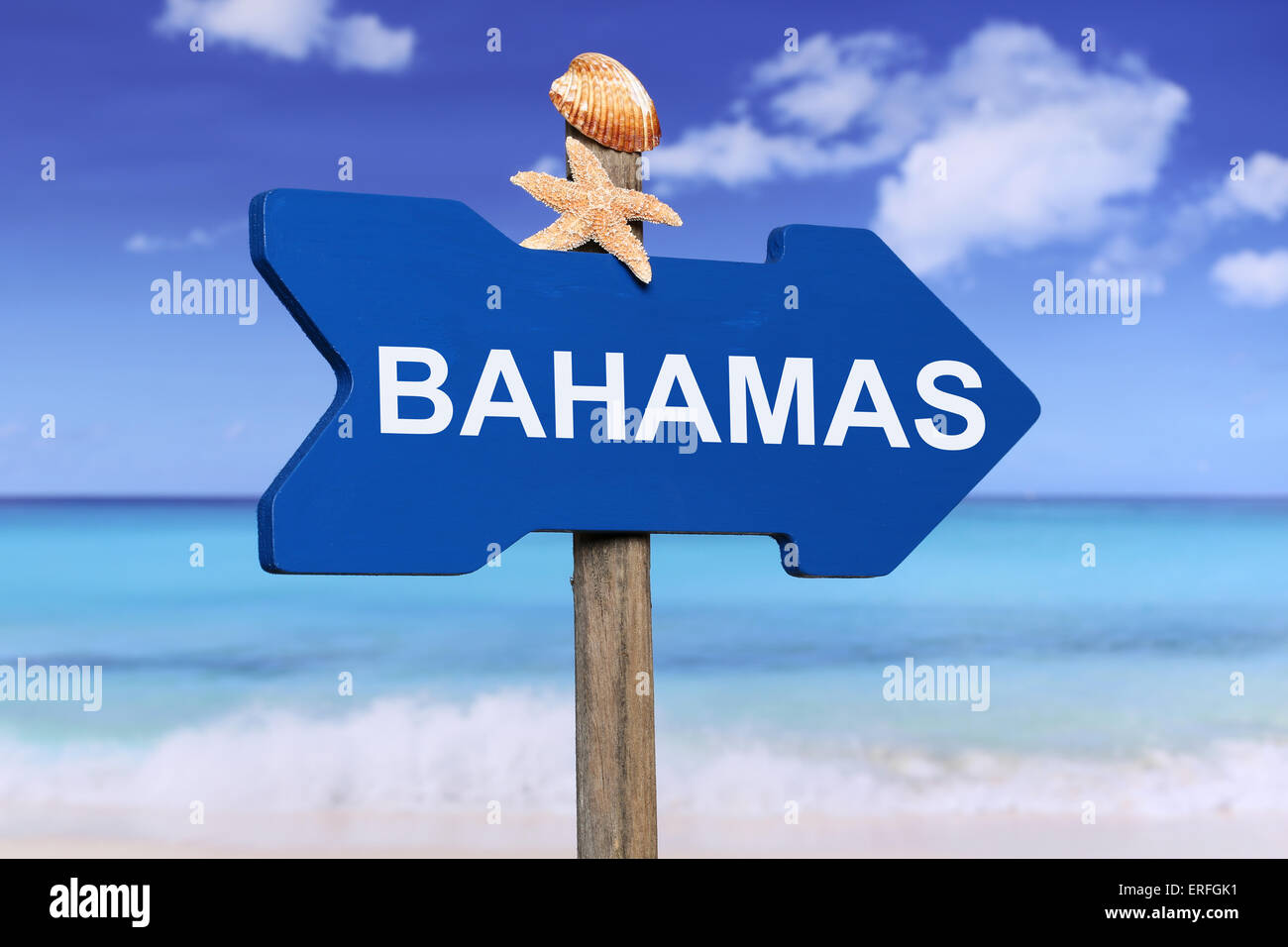 Bahamas with beach and sea in summer on vacation - Stock Image