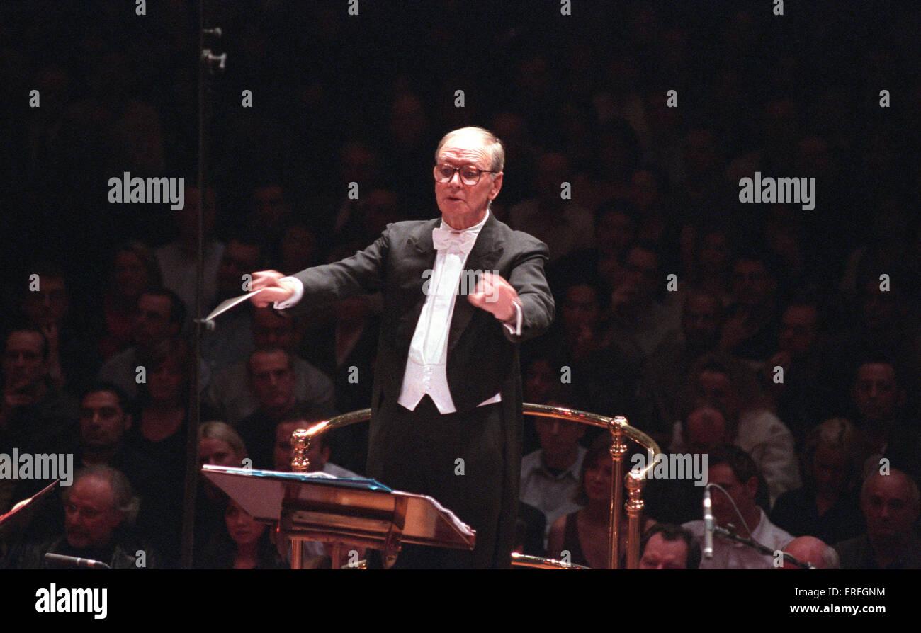 Ennio Morricone - Italian composer conducting the Roma