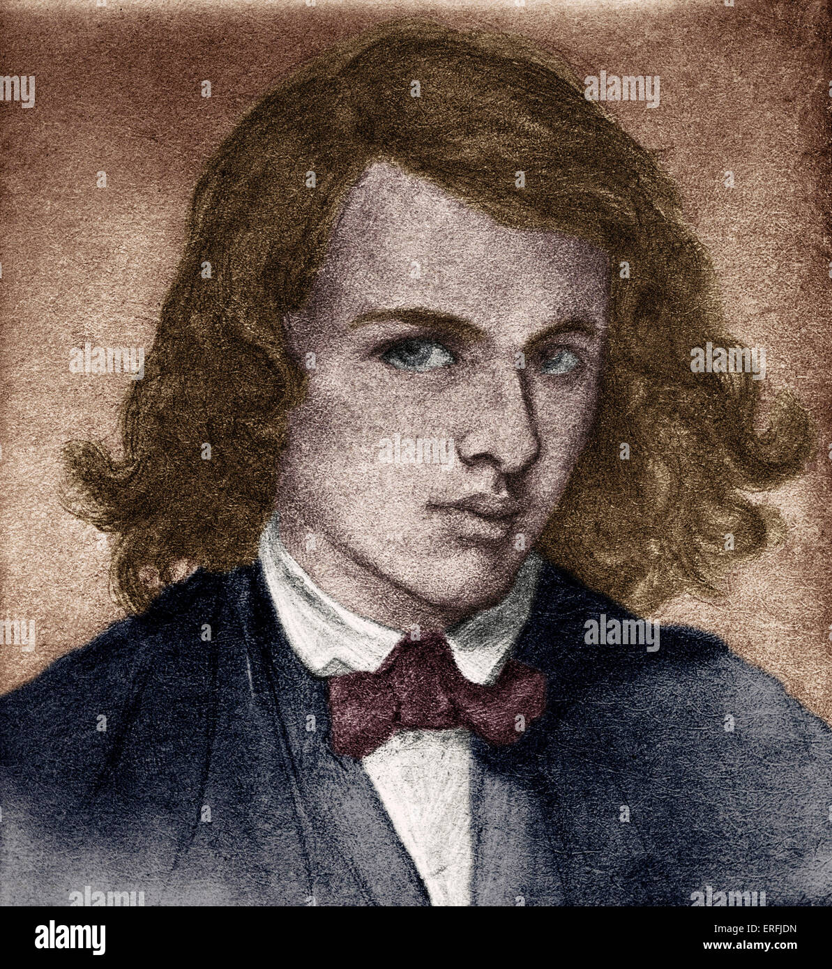 Rossetti, Dante Gabriel or Gabriel Charles Dante Rossetti - English poet, painter and translator 1828-1882.  Self Stock Photo