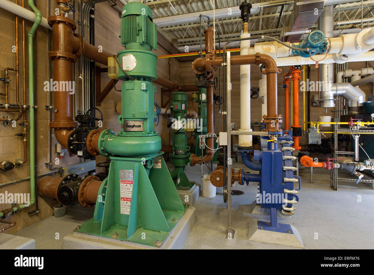 Digester Mixing System,  pump no. 3. - Stock Image