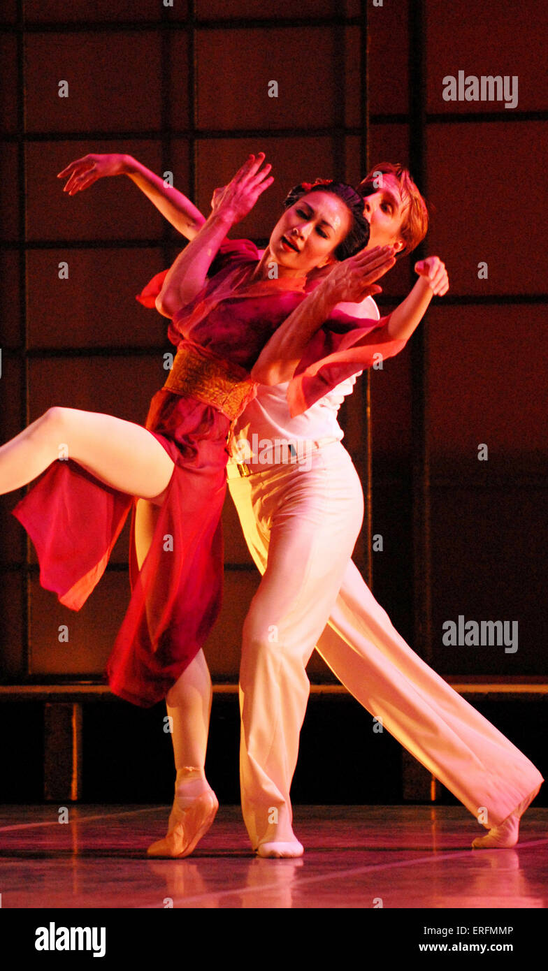 Madame Butterfly - ballet with choreography by David Nixon and music by Giacomo Puccini with Northern Ballet Theatre - Stock Image