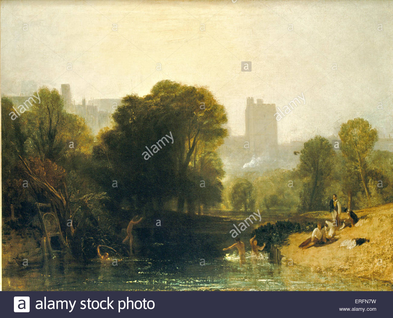 'Windsor Castle' - painting by Joseph Mallord William Turner. JMWT, English painter: 1775 - 1851. - Stock Image