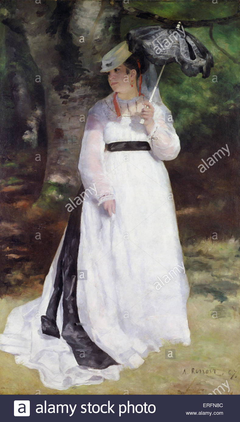 Lise by Pierre - Auguste Renoir, 1867 Painting. French painter, 25 February 1841 - 3 December 1919.  Courtesy: Folkwang - Stock Image