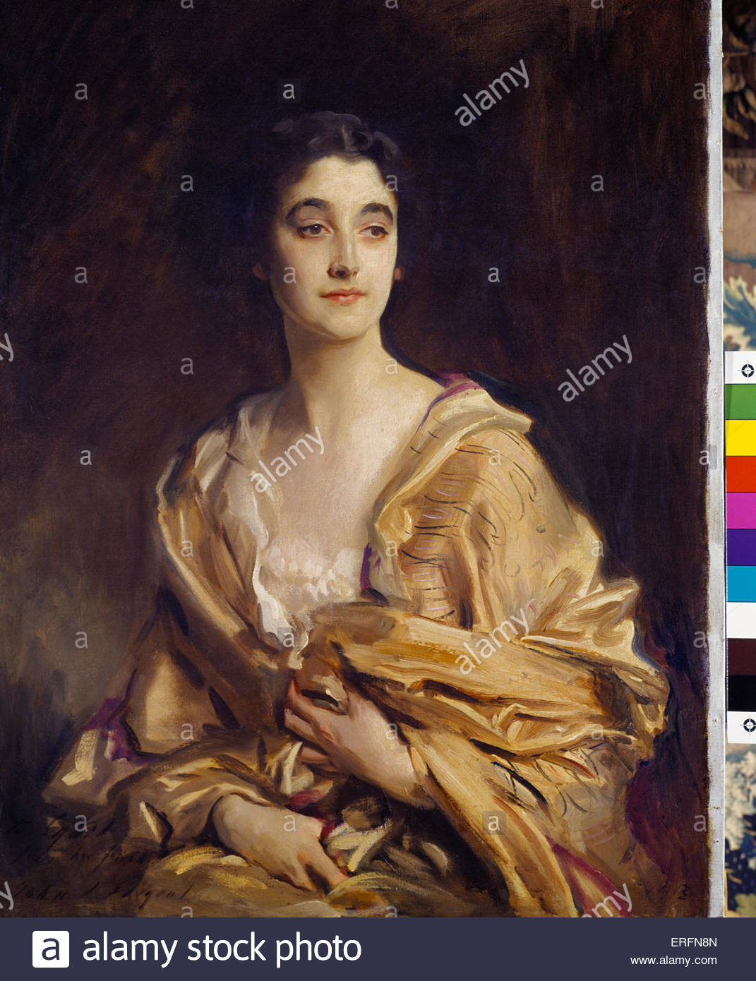 The Marchioness of Cholmondeley by John Singer Sargent ,1913 painting. American painter, (January 12, 1856 – April - Stock Image