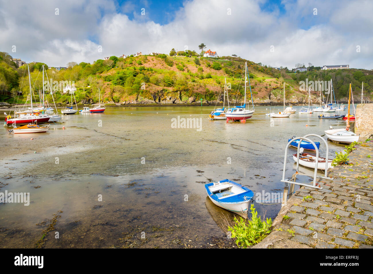 Fishguard a coastal town in Pembrokeshire, south west Wales UK Europe - Stock Image