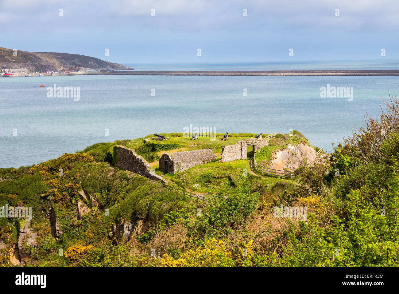 Fishguard Fort Pembrokeshire, south west Wales UK Europe - Stock Image