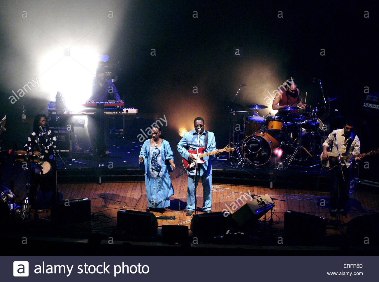 African Soul Rebels - performing in Bristol, March 2006. - Stock Image