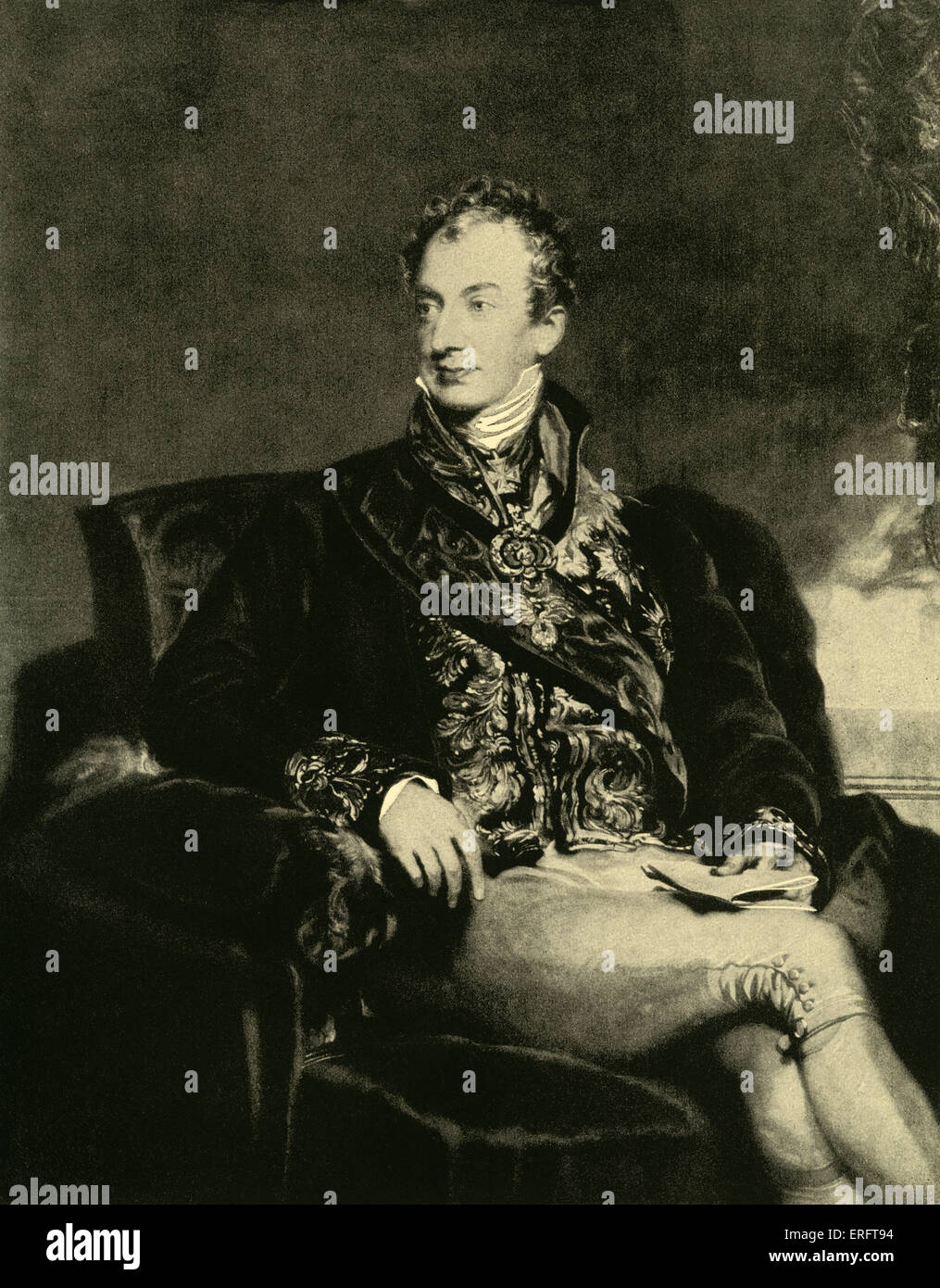 Prince Klemens Wenzel von Metternich - engraving by Samuel Cousins after painting by Sir Thomas Lawrence. SL, English - Stock Image