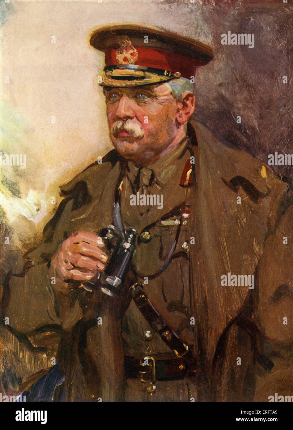 Sir John French - Painting. Field Marshall, British Officer serving as first Commander-in-Chief in British Expeditionary - Stock Image