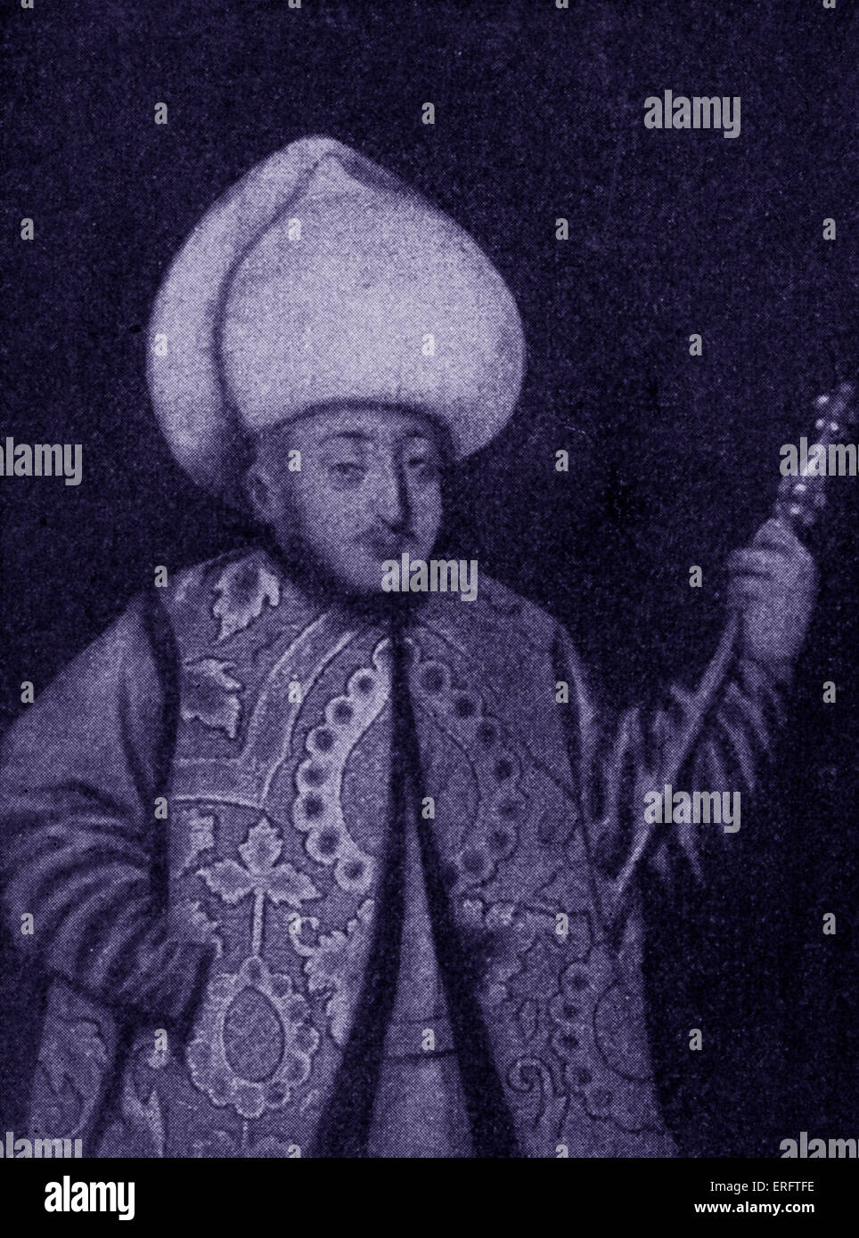 Sultan Murad I - portrait.  Reign: 1359–1389 - Stock Image