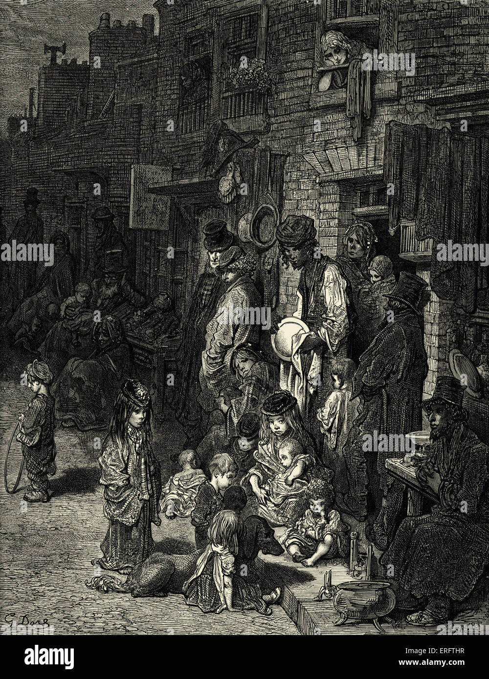 East End London: Victorian London- Whitechapel, Wentworth Street. East End