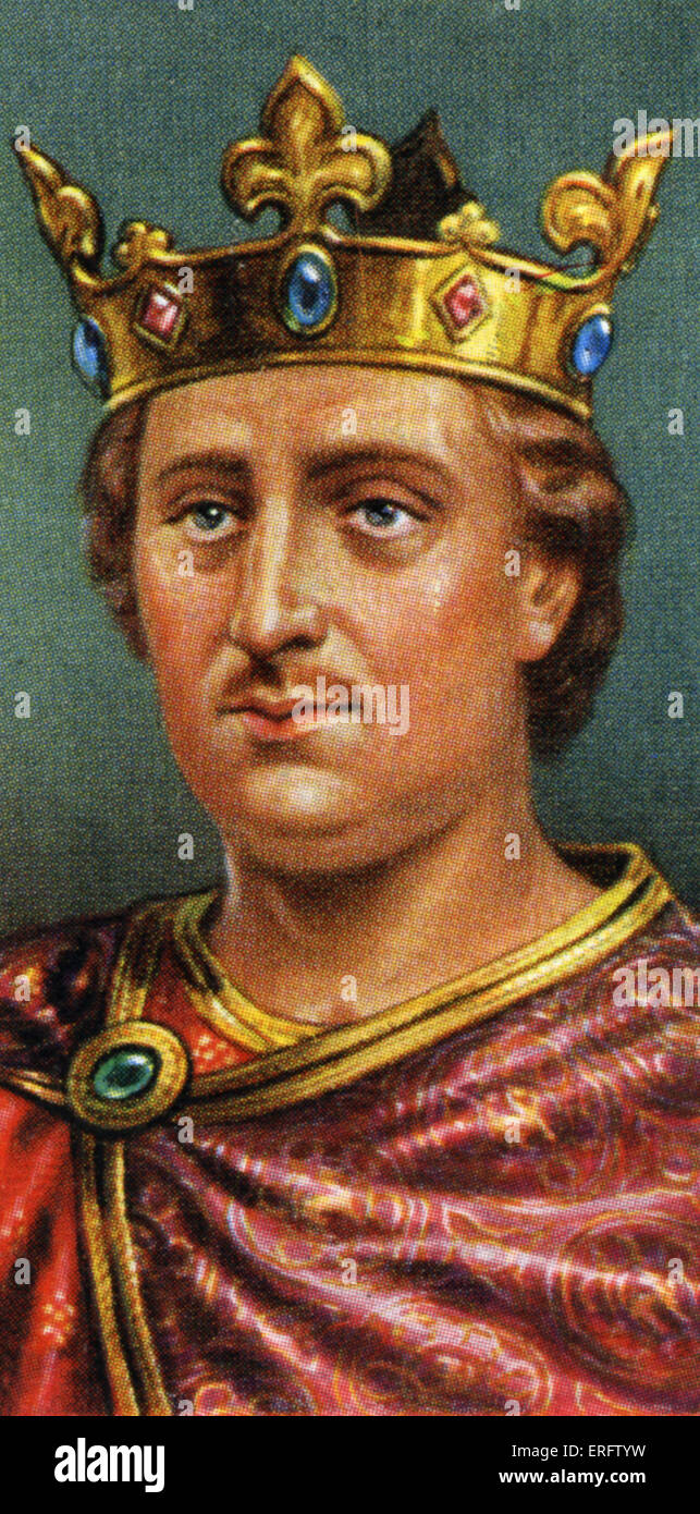 King Henry II (reigned 1154- 1189). Henry of Anjou, an exceptionally able King, found England devastated by civil - Stock Image