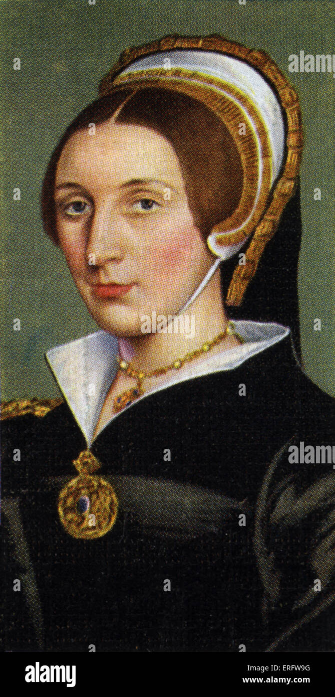 Catherine Howard portrait (died 1542). Catherine Howard appeared at court in 1540 and attracted the attention of - Stock Image