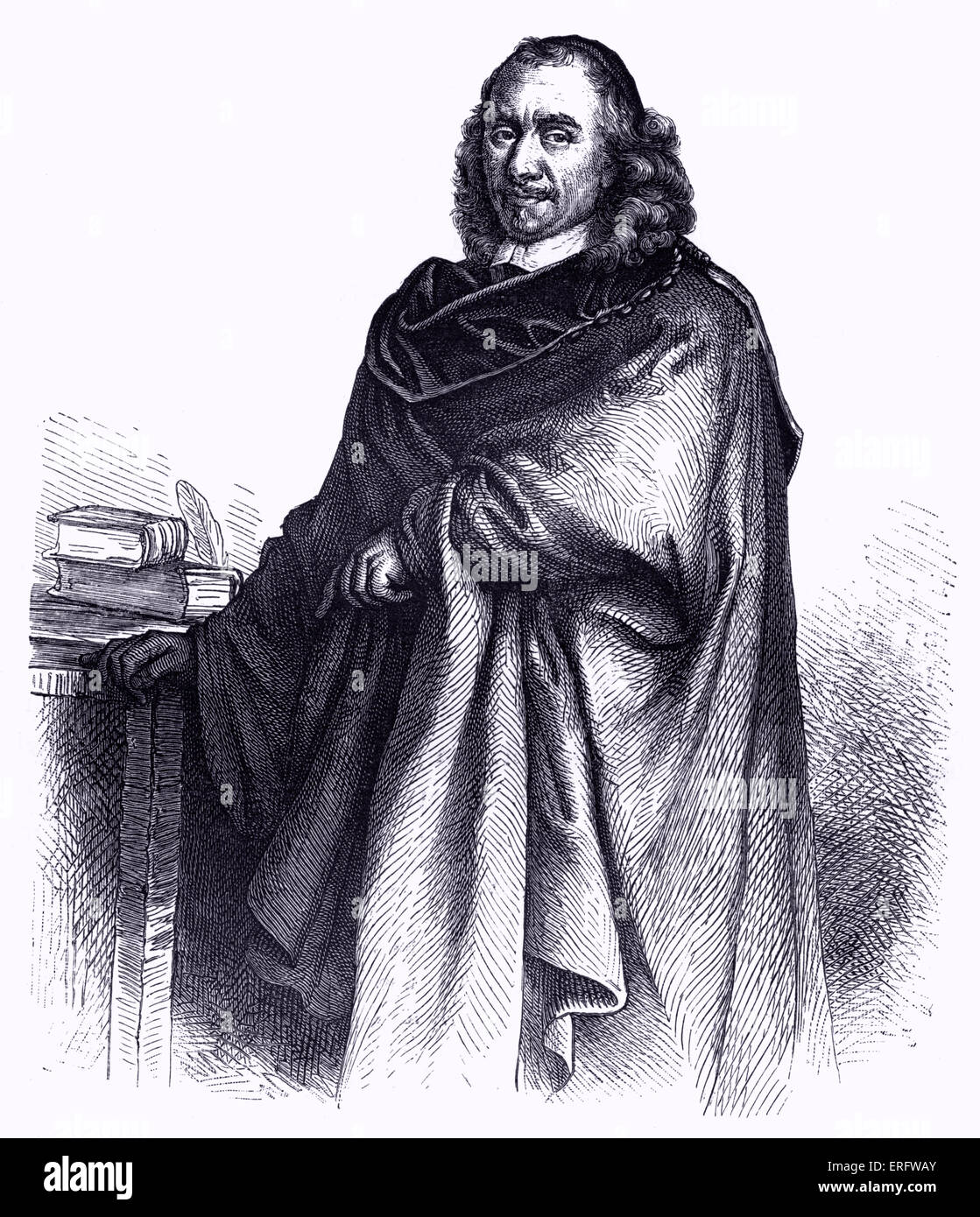 Pierre Corneille, French playwright and poet. He wrote Mélite, Médée, Cid and many more plays.   - Stock Image