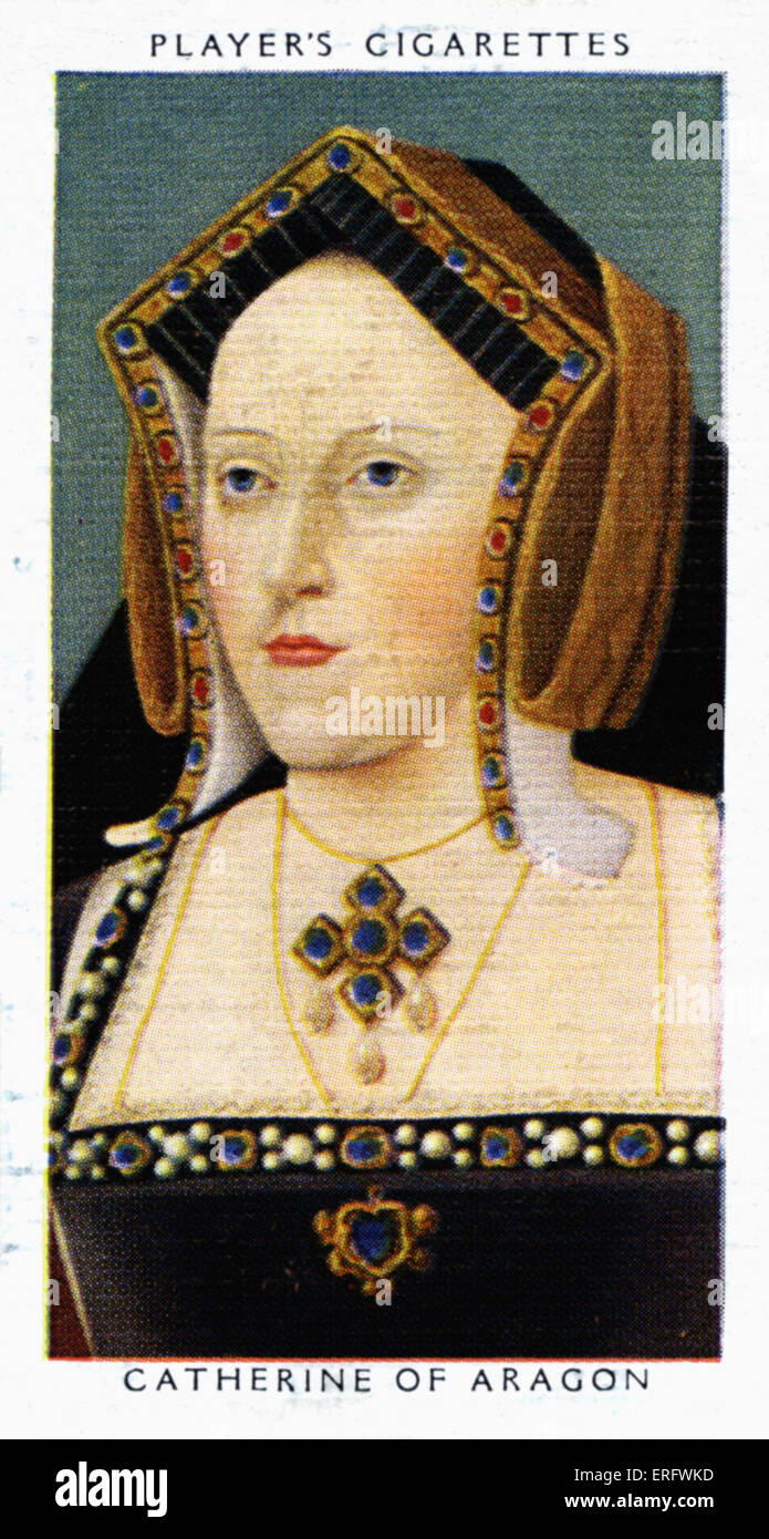 Catherine of Aragon portrait  (1485 - 1536). Catherine married Arthur, Henry VIII's elder brother in1501, but - Stock Image