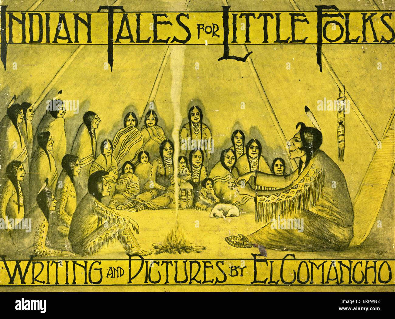 Indian Tales for Little Folks by W. S. Phillips (El Comancho 1867 -1940). Illustrations by the author. Published - Stock Image