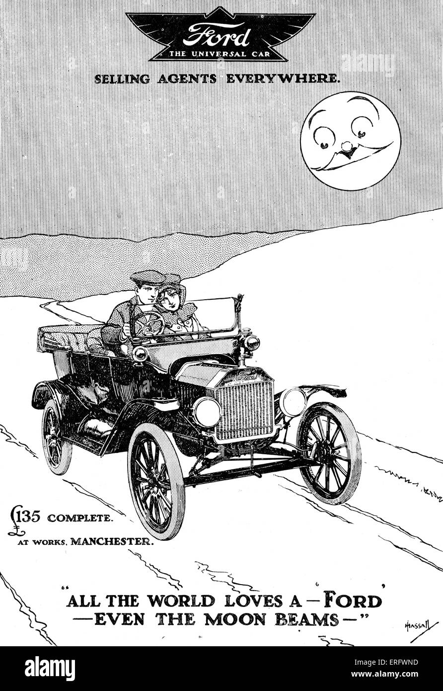 Caption all the world loves a ford even the moon beams ford motor company manufacturer of