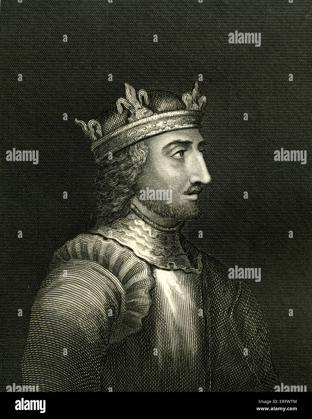 Stephen,  also known  as Stephen of Blois, ( 1096 – 1154). Last Norman King of England. His claim to the throne - Stock Image