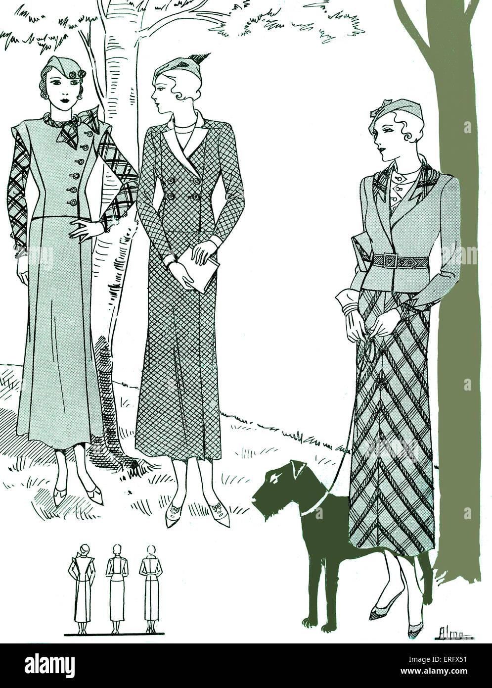 Cover of La Femme Chez Elle - tailored suit designs. July 1933. - Stock Image