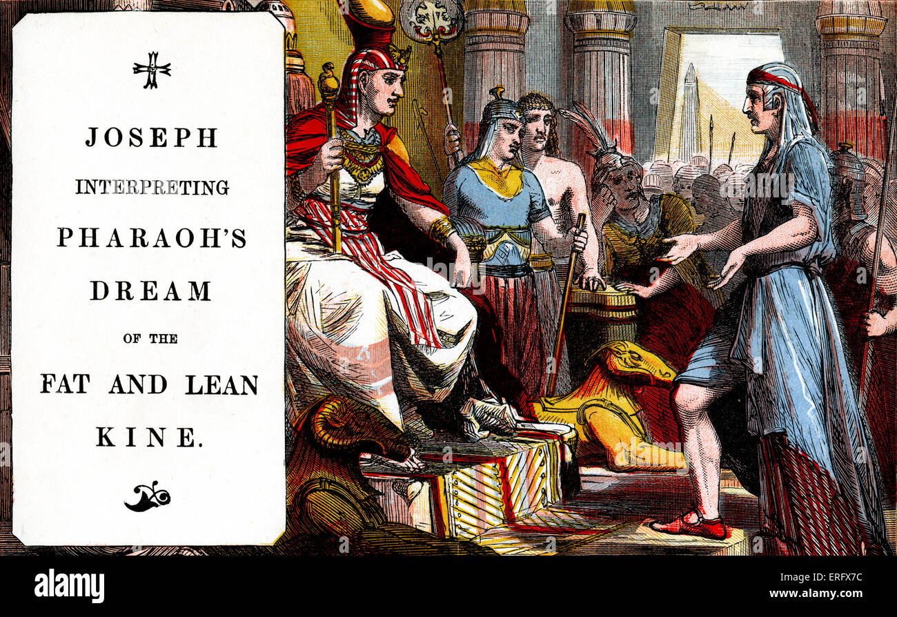 Genesis: Joseph interpreting Pharaoh's dream of the fat and