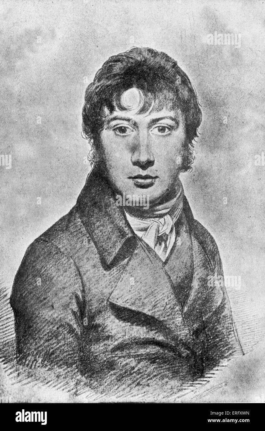 John Constable. Portrait of the  English Romantic painter. 11 June 1776 – 31 March  1837. Stock Photo