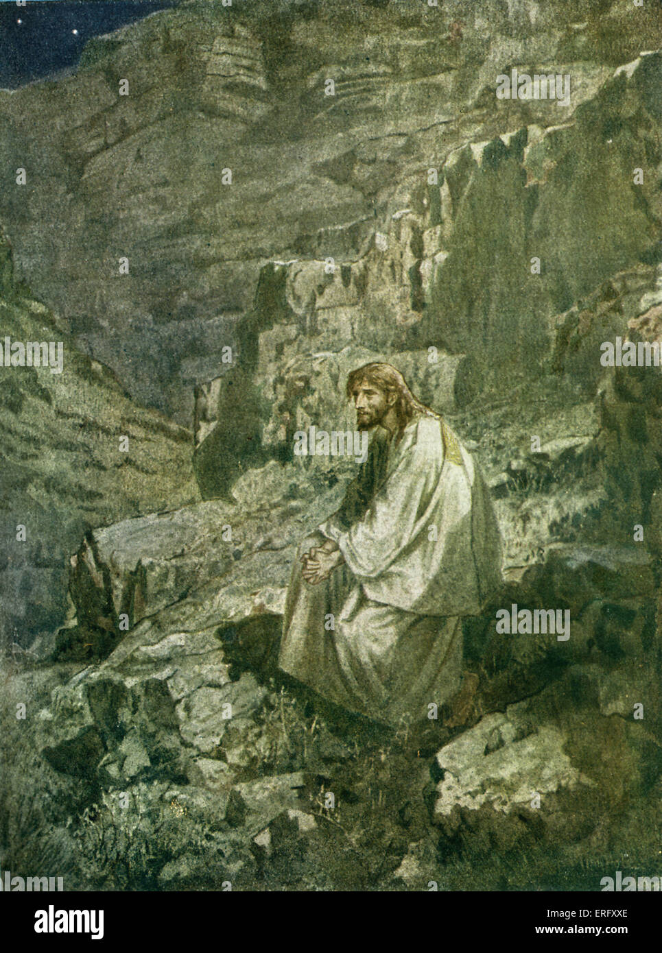 The Temptation Of Jesus And He Was In Wilderness Forty Days Tempted Devil Mark I 13