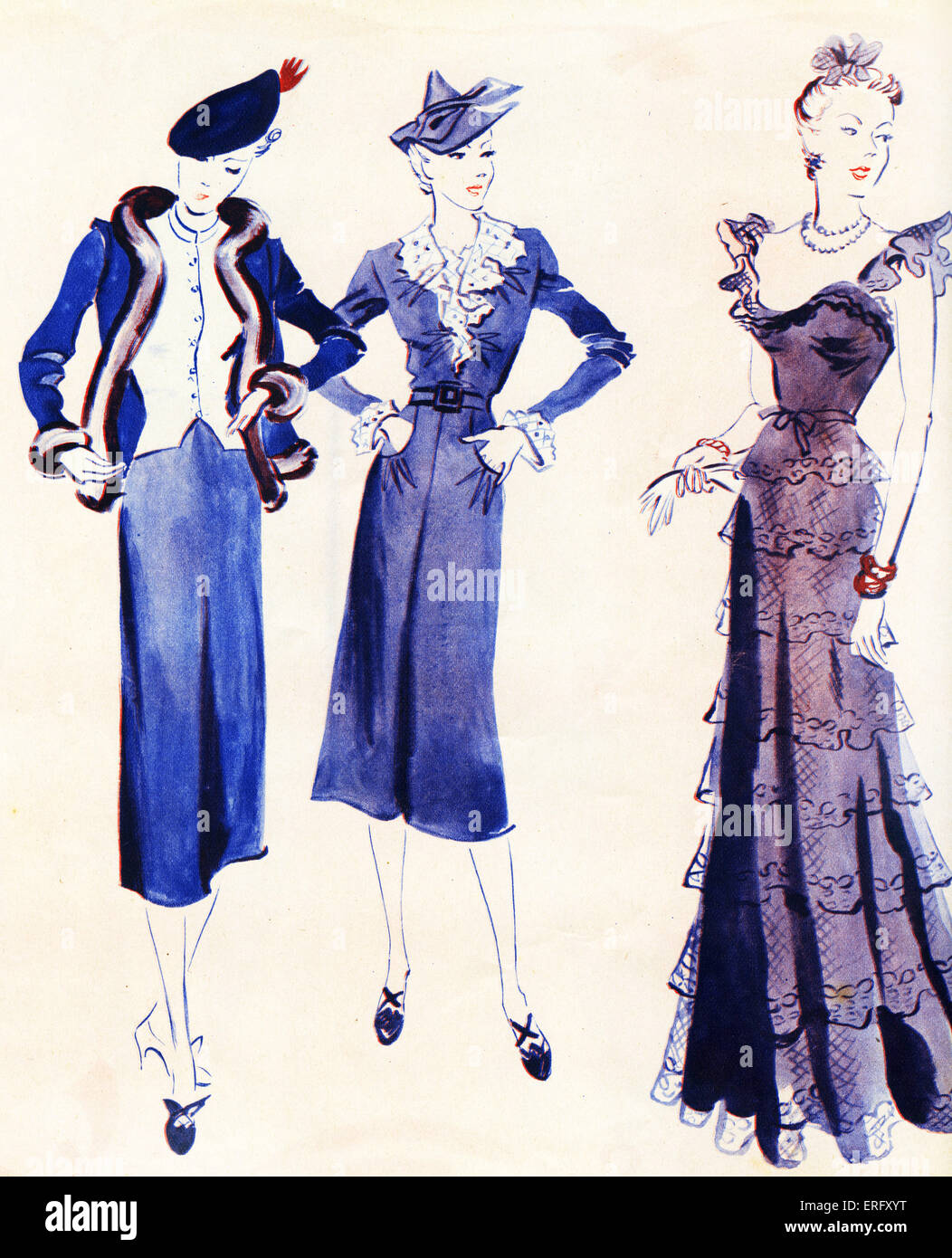French Fashion Day And Evening Dress From Coco Chanel 39 S 1938 Autumn Stock Photo 83329004 Alamy