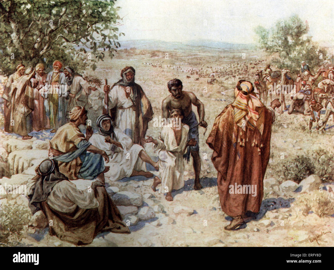 Joseph taken out of the pit and sold into slavery nto ...