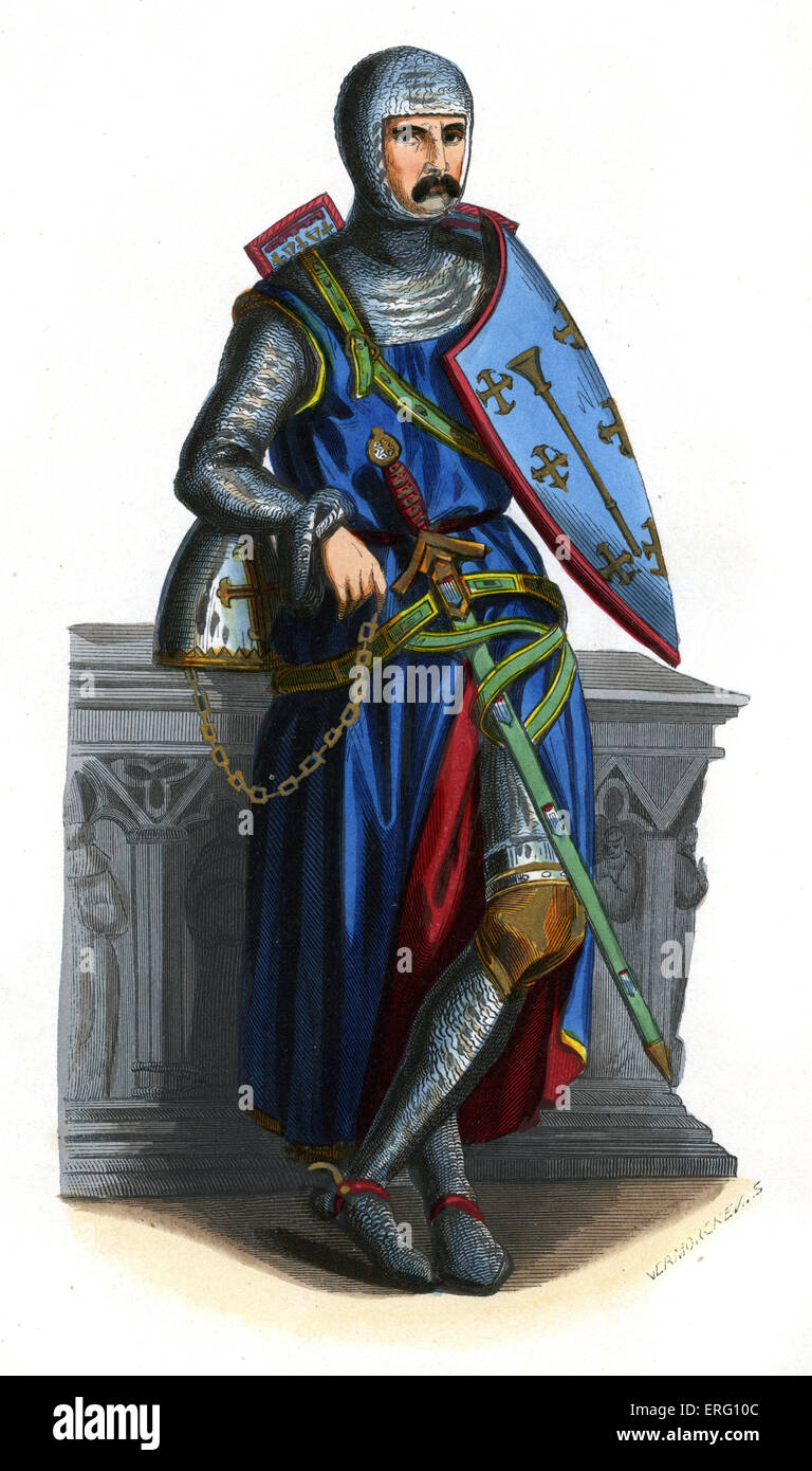 Sir Roger of / de Trumpington, a crusader knight who died in   1289. Served during the reign of Edward I. He is - Stock Image