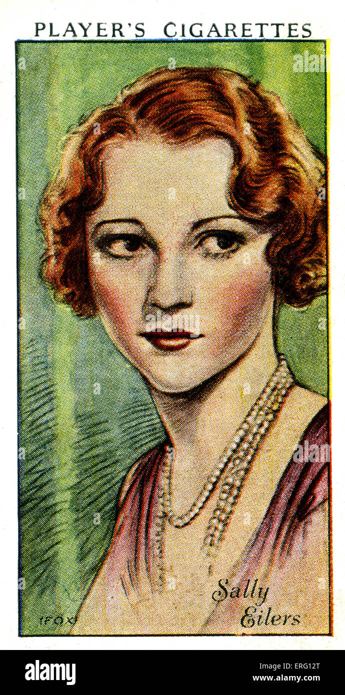 Dorothea Sally Eilers, American actress. 11 December 1908 – 5 January 1978. (Player's cigarette card). - Stock Image