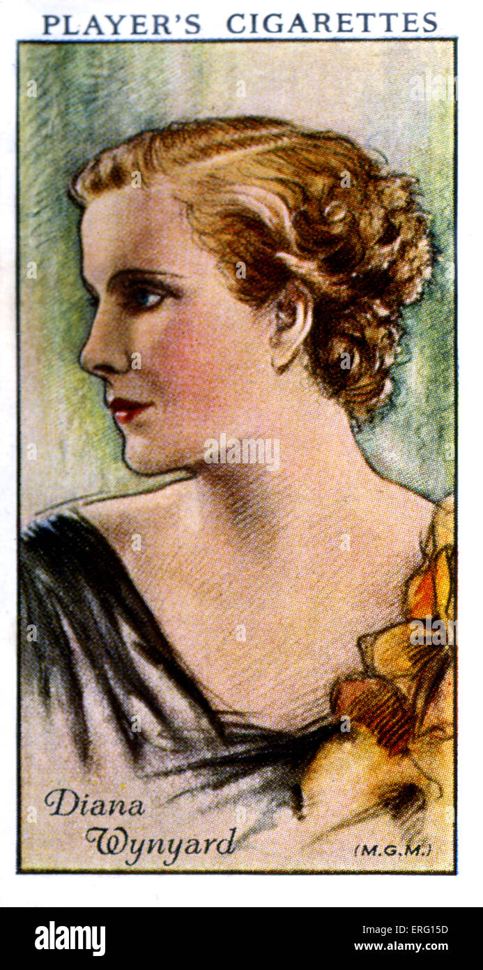 Diana Wynyard, born Dorothy Isobel Cox, English stage and film actress. 16 January 1906 – 13 May 1964. (Player's - Stock Image