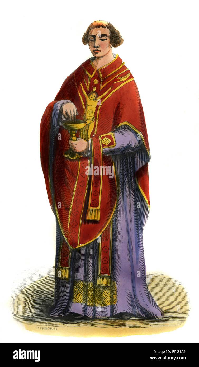Medieval Clergy Clothing Medieval Priest Stock ...